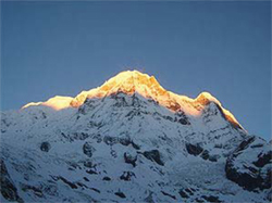 Annapurna South from Annapurna Base Camp (4,130 m) before sunrise