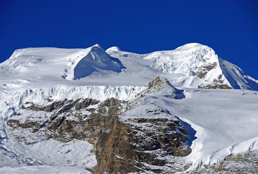 Closer view of the North Summit & the route of ascent