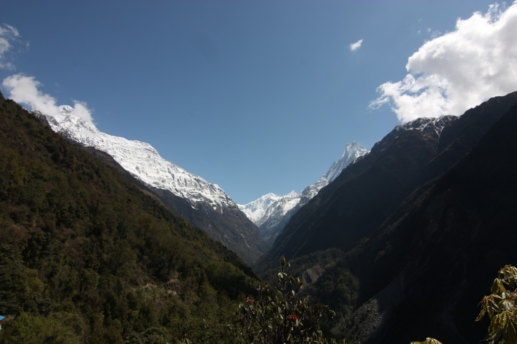 The panoramic gateway to Annapurna as seen from Chomrung