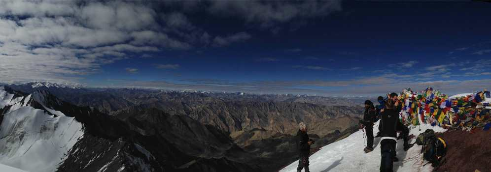 Panorama from the Stok Kangri Summit