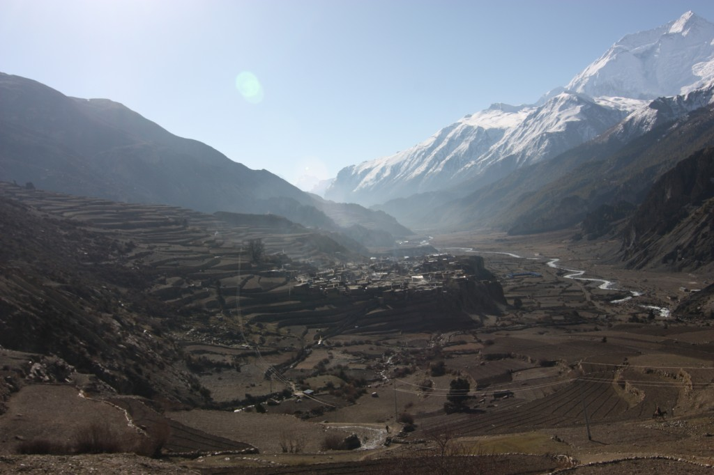 The expansive landscape of Manang
