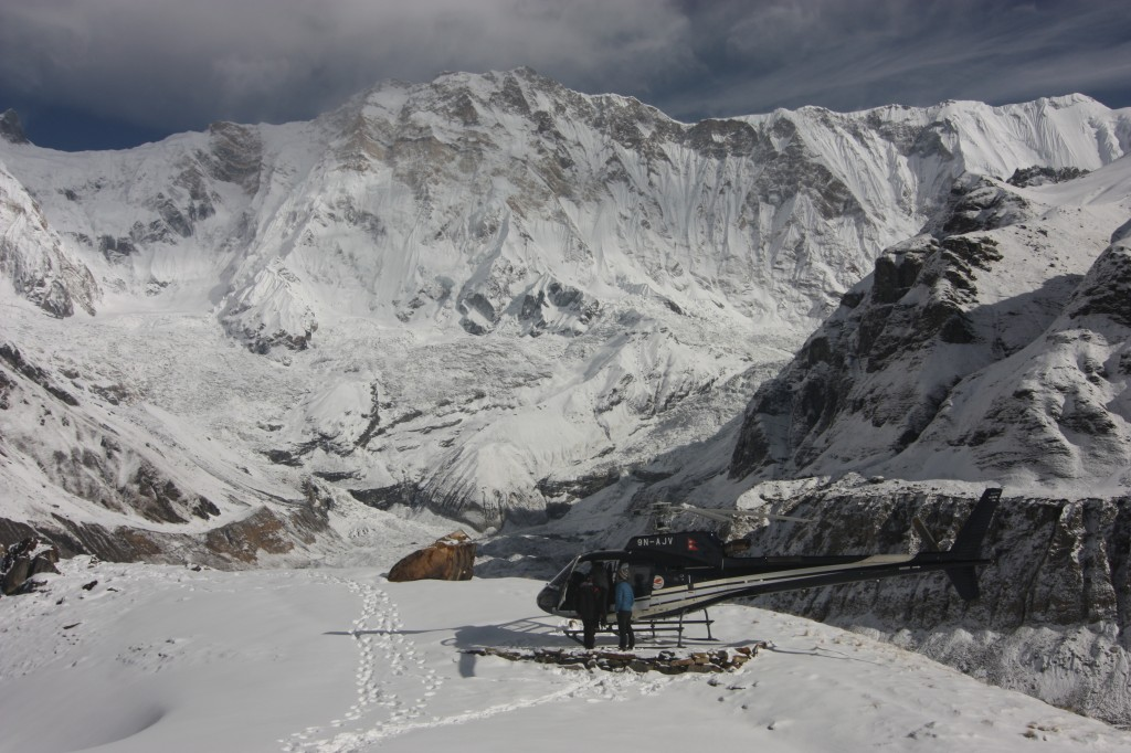 Annapurna. The World's 10 highest. And the chopper.