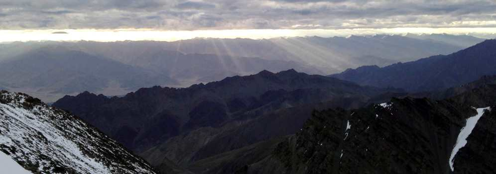 Sunrise from the Stok Kangri Ridge