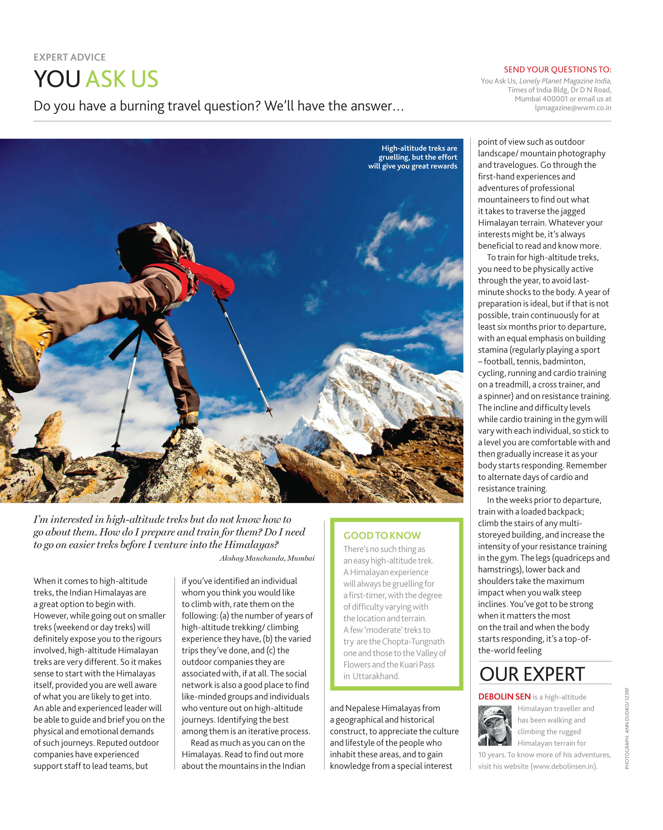 Article in Lonely Planet Magazine India. Dec 2013.