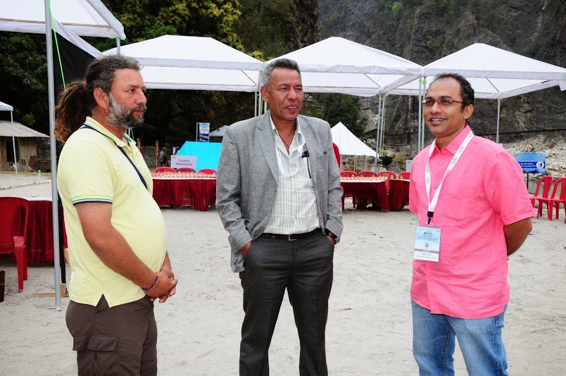 With Mahendra SIngh Thapa - President Trekking Association of Nepal